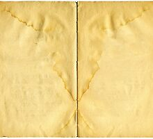 Open ancient book with blank pages by Colorello