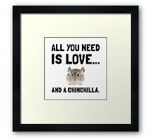 Love And A Chinchilla Framed Print