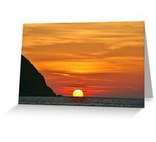 Another Grecian Sunset Greeting Card