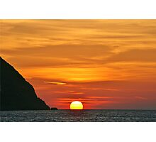 Another Grecian Sunset Photographic Print
