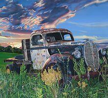Old Ford Flatbed, by artist Lynn Garwood by Lynn Garwood