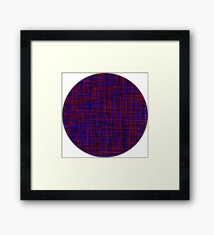 When the blue line cross the red one Framed Print