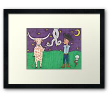 Meanwhile, back on the ranch... III Framed Print
