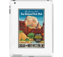 Zion National Park Vintage Art iPad Case/Skin
