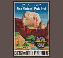 Zion National Park Vintage Art Kids Clothes