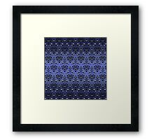 Owl, Ghost and Cyclops Monster Pattern Art Framed Print