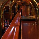 Railing at the Bar by Barbara  Brown
