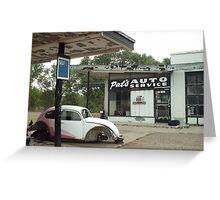Self Serve Garage On The Way Into Tucumcari Greeting Card