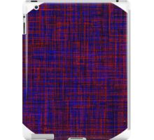 When the blue line cross the red one iPad Case/Skin