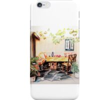 Spanish Patio Set for Drinks iPhone Case/Skin