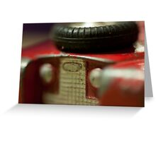 vintage old red 109 toy Greeting Card
