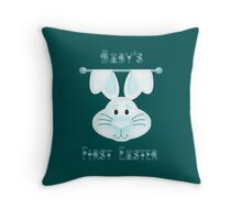 Baby Boy's First Easter Throw Pillow
