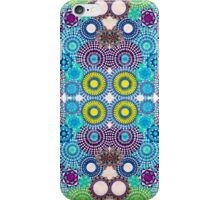 Mirrored Blue Green Spirograph Artwork iPhone Case/Skin