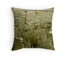 Yarrow Against the Wall Throw Pillow
