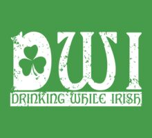 DWI Drinking While Irish grunge look T-Shirt