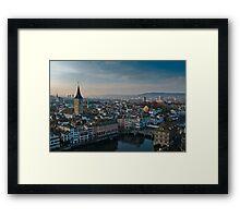Zürich City Framed Print