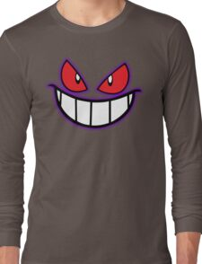 Gengar Monster Purple Pokeball Long Sleeve T-Shirt