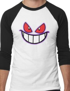 Gengar Monster Purple Pokeball Men's Baseball ¾ T-Shirt