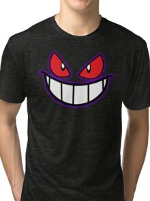 Gengar Monster Purple Pokeball Tri-blend T-Shirt