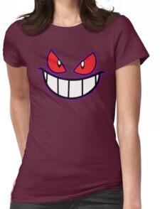 Gengar Monster Purple Pokeball Womens Fitted T-Shirt