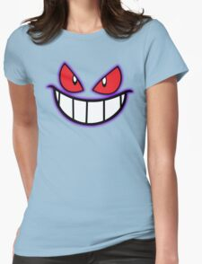 Gengar Monster Purple Pokeball Womens Fitted T-Shirt