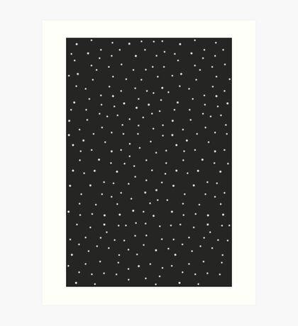 Random Dots on Black Art Print