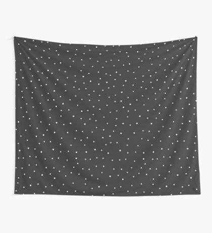 Random Dots on Black Wall Tapestry