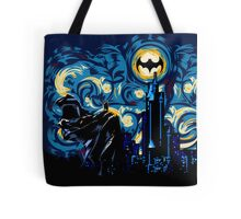 Dark Blue Starry Knight Abstract Tote Bag