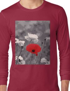 One Red Poppy Long Sleeve T-Shirt