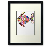 Psychedelic Fish Framed Print