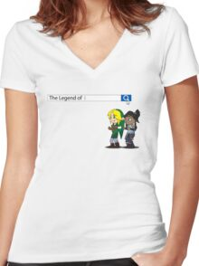 There Can Only Be One Women's Fitted V-Neck T-Shirt