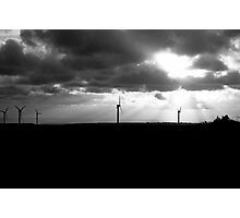 Windfarm Sunset Photographic Print