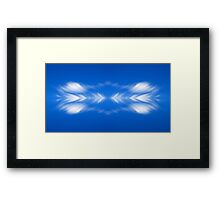 Clouds mirror blue sky  Framed Print