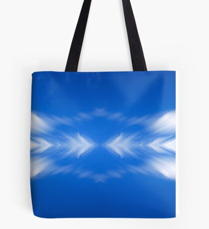 Clouds mirror blue sky  Tote Bag