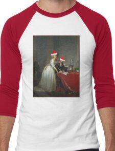 Antoine-Laurent Lavoisier (1743–1794) and His Wife (Marie-Anne-Pierrette Paulze, 1758–1836) Jacques Louis David  Men's Baseball ¾ T-Shirt