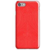 Red kashmir iPhone Case/Skin