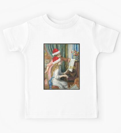 Two Young Girls at the Piano Auguste Renoir  Kids Tee