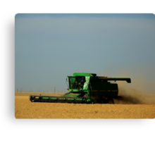 Harvesting The Wheat Canvas Print