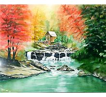 Old Water Mill in the Fall Photographic Print