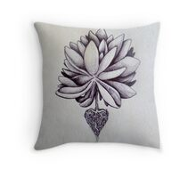love plants roots at heart Throw Pillow