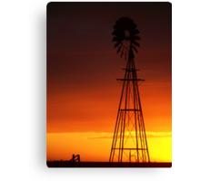 Red Sunset Tonight Canvas Print