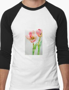 Tulips 2 Men's Baseball ¾ T-Shirt