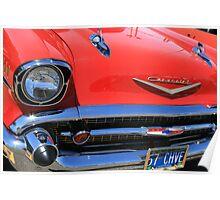Red '57 Chevy Poster