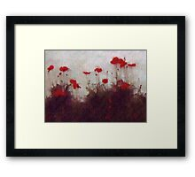 Painted Poppies Framed Print