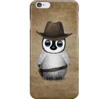 Cute Baby Penguin Wearing Cowboy Hat iPhone Case/Skin
