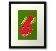 Cube dragon Framed Print