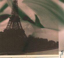 Eiffel Tower with Cyclamen Sky by BHarrisonArts