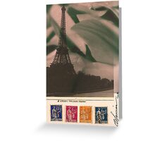 Eiffel Tower with Cyclamen Sky Greeting Card