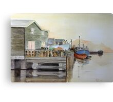 Fishing Boats in Peggy's Cove Canvas Print