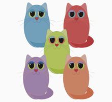 CAT FIVE POSE Kids Clothes